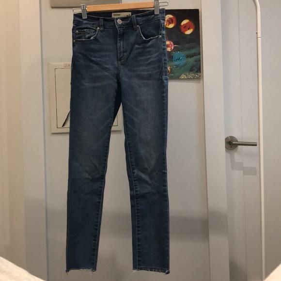 Garage medium wash skinny jeans